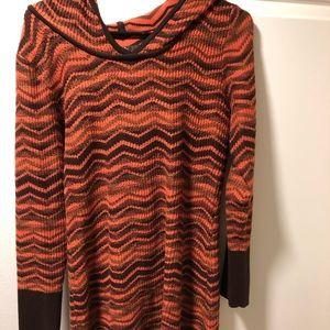 PrAna orange sweater dress